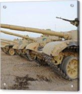 Iraqi T-72 Tanks From Iraqi Army Acrylic Print