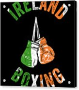 Ireland Boxing Color Light Boxers Irish Cool Gift Funny Flag Acrylic Print