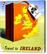 Ireland Vintage Travel Poster Restored Acrylic Print