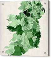 Ireland Watercolor Map Acrylic Print