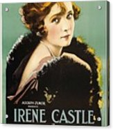 Irene Castle In The Firing Line 1919 Acrylic Print