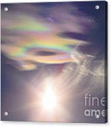 Iridescent Clouds Near The Sun Acrylic Print