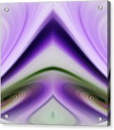 Iris Abstract Acrylic Print by Linda Phelps