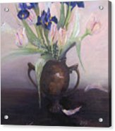 Iris And Tulips Acrylic Print