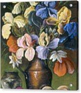 Iris In Brass Pitcher Acrylic Print