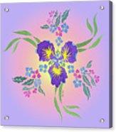 Iris Pinwheel Acrylic Print