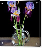 Irises In A Glass Pitcher Acrylic Print