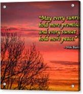 Irish Blessing - May Every Sunrise... Acrylic Print
