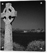Irish Celtic Cross Overlooking Lake Acrylic Print