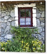 Irish Cottage Window County Clare Ireland Acrylic Print