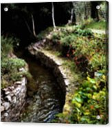 Irish Garden Stream Acrylic Print