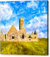 Irish Monastic Ruins Of Ross Errilly Friary Acrylic Print