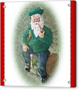 Irish Santa Card Acrylic Print