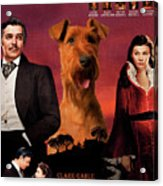 Irish Terrier Art Canvas Print - Gone To The Wind Movie Poster Acrylic Print