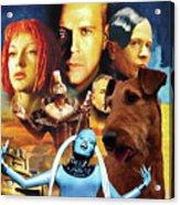 Irish Terrier Art Canvas Print - The Fifth Element Movie Poster Acrylic Print