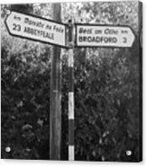 Irish Village Sign County Limerick. Acrylic Print