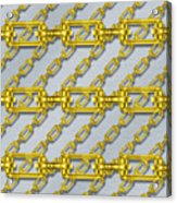 Iron Chains With Brushed Metal Seamless Texture Acrylic Print