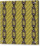 Iron Chains With Knit Seamless Texture Acrylic Print