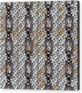 Iron Chains With Metal Panels Seamless Texture Acrylic Print