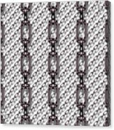 Iron Chains With White Background Seamless Texture Acrylic Print