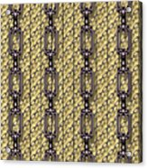 Iron Chains With Wood Seamless Texture Acrylic Print