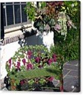 Iron Garden Bench Acrylic Print