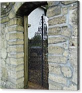 Iron Gate To The Garden Acrylic Print