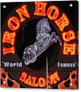 Iron Horse Saloon In Neon Acrylic Print