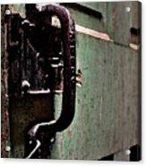 Iron Ic Door Handle Acrylic Print