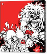 Iron Maiden Vs Megadeth Acrylic Print
