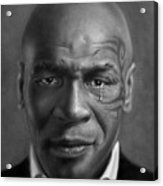 Iron Mike Tyson Drawing Acrylic Print