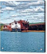 Iron Ore Loading Onto Laker Acrylic Print