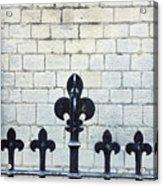 Iron Railings Detail  Acrylic Print
