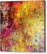 Iron Texture Painting Acrylic Print