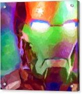 Ironman Abstract Digital Paint 1 Acrylic Print
