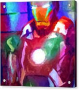 Ironman Abstract Digital Paint 2 Acrylic Print