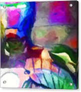 Ironman Abstract Digital Paint 3 Acrylic Print