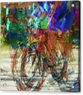 Ironman Bicyclist 2109 Acrylic Print by David Mosby