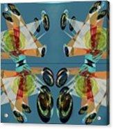 Irregular Mirrored Watches Acrylic Print