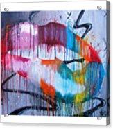 Irresistible Lips 40x30 Acrylic Print