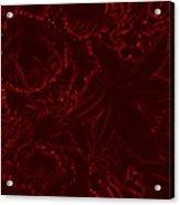 Irridescent Red Acrylic Print