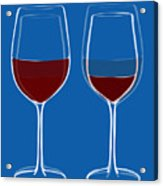 Is The Glass Half Empty Or Half Full Acrylic Print by Frank Tschakert
