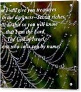 Isaiah Scripture  Acrylic Print