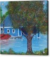 Island Boathouse Acrylic Print