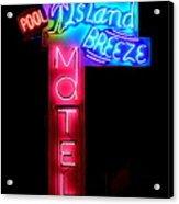 Island Breeze Motel Acrylic Print