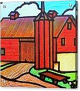 Island Ford Barn 2 Acrylic Print