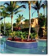 Island In Pool Acrylic Print
