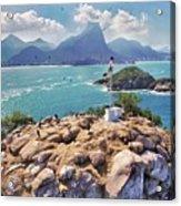 Island Lighthouse Acrylic Print