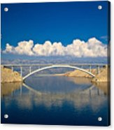 Island Of Pag Bridge And Velebit Mountain Acrylic Print