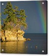 Island Rainbow Acrylic Print